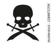 pirate skull vector logo style | Shutterstock .eps vector #1288872709