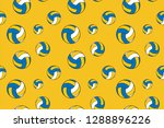 volleyball pattern  ready to... | Shutterstock .eps vector #1288896226