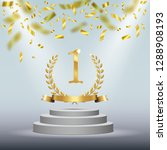 winner background with golden... | Shutterstock . vector #1288908193
