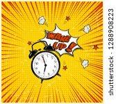 wake up pop art illustration.... | Shutterstock . vector #1288908223
