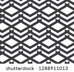 seamless inverse black and... | Shutterstock .eps vector #1288911013