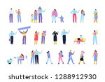 people of different ages and... | Shutterstock .eps vector #1288912930
