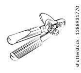 can opener vector illustration   Shutterstock .eps vector #1288931770