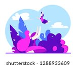 young mother plays with the... | Shutterstock .eps vector #1288933609