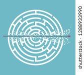 arrow breaking walls goes... | Shutterstock .eps vector #1288933990