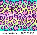 seamless leopard skin pattern...   Shutterstock .eps vector #1288935133