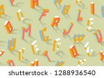 isometric alphabet vector abc... | Shutterstock .eps vector #1288936540