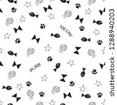 cat seamless pattern and... | Shutterstock .eps vector #1288940203