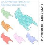 zakynthos island sketchy island....   Shutterstock .eps vector #1288942246
