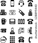 telephone icons | Shutterstock .eps vector #128895440