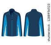 navy light blue sport winter... | Shutterstock .eps vector #1288956523