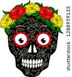 skull with a wreath. vector... | Shutterstock .eps vector #1288959133