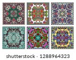 set of traditional kalamkari... | Shutterstock . vector #1288964323