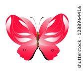 beautiful red butterflies ... | Shutterstock . vector #1288964416