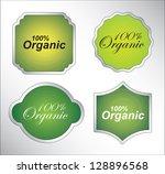 organic seal over white... | Shutterstock .eps vector #128896568