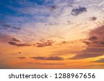 sunset colorful sky background...   Shutterstock . vector #1288967656