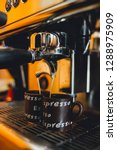 close up coffee machine... | Shutterstock . vector #1288975909