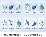 set template app  smartphone... | Shutterstock .eps vector #1288985596