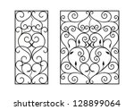 wrought iron modules  usable as ... | Shutterstock .eps vector #128899064