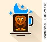 night owl and moon original... | Shutterstock .eps vector #1288996540