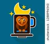 night owl and moon original... | Shutterstock .eps vector #1288996543