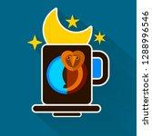 night owl and moon original... | Shutterstock .eps vector #1288996546