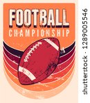 american football typographical ... | Shutterstock .eps vector #1289005546