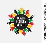 black history month vector...   Shutterstock .eps vector #1289009683