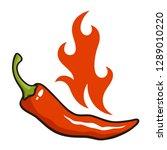 vector illustration of chili... | Shutterstock .eps vector #1289010220