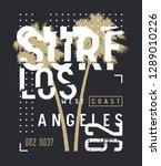 surf california t shirt and... | Shutterstock .eps vector #1289010226
