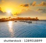 nova tabarca island port in... | Shutterstock . vector #1289018899