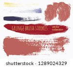 paint lines grunge collection.... | Shutterstock .eps vector #1289024329