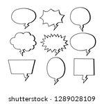 isolated white blank empty... | Shutterstock .eps vector #1289028109