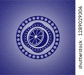 orange icon inside emblem with...   Shutterstock .eps vector #1289029306