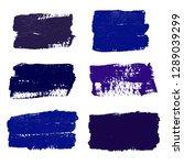 brush strokes. vector... | Shutterstock .eps vector #1289039299