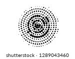 black on white concentrated... | Shutterstock .eps vector #1289043460