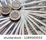 coins of one sterling pound and ... | Shutterstock . vector #1289045053
