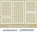 decorative panels set for laser ... | Shutterstock .eps vector #1289045593