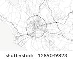 area map of rome  italy. this... | Shutterstock .eps vector #1289049823