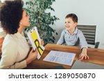 shot of a speech therapist...   Shutterstock . vector #1289050870