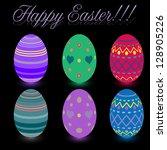 easter egg icon.    Shutterstock . vector #128905226
