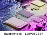 electronic circuit board close... | Shutterstock . vector #1289052889