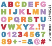 Stitched Alphabet Shapes With...