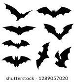 vector illustration of bat... | Shutterstock .eps vector #1289057020
