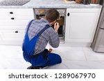 young repairman fixing... | Shutterstock . vector #1289067970