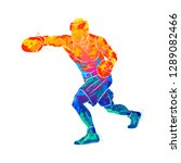 abstract boxer man  mixed...   Shutterstock .eps vector #1289082466