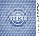 ankle blue badge with geometric ... | Shutterstock .eps vector #1289087140