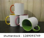 unprinted cups for sublimation... | Shutterstock . vector #1289093749