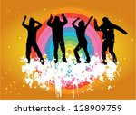 party people | Shutterstock .eps vector #128909759
