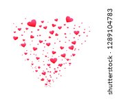 beautiful hearts falling on... | Shutterstock .eps vector #1289104783